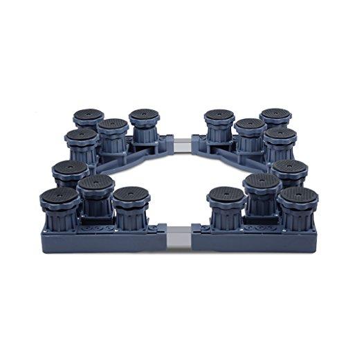 Qiangzi Einstellbare Basisständer Heavy-Duty Gerät Roller Base Wäschetrockner Kühlschränke Waschmaschine Boden Trays 16 Fuß 69 * 72 Cm Für Badezimmer Küche (Roller Küche Wagen)