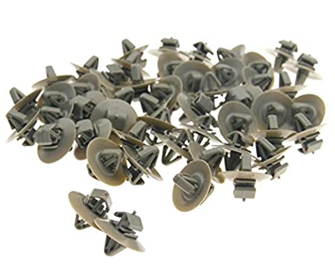 50 x Car Plastic Clips Door Moulding Lower Protection Trim For Renault Trafic