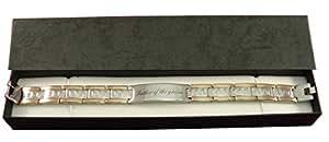 Father Of The Groom, personnalisable à bracelet pour homme en coffret cadeau-br34