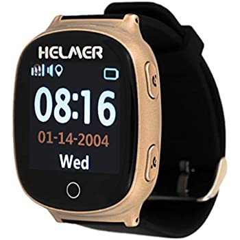 HELMER LK705 Eldery Montre Intelligente avec Traceur GPS et Fonction dappel Or
