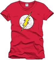 T-Shirt Flash Logo GRUNGE Red - Licence Officielle