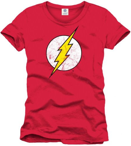 Flash Logo T-Shirt, Rouge, XX-Large (Taille Fabricant: XXL) Homme