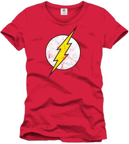 Sheldon Cooper Kostüm - Flash Herren Logo T-Shirt, rot,