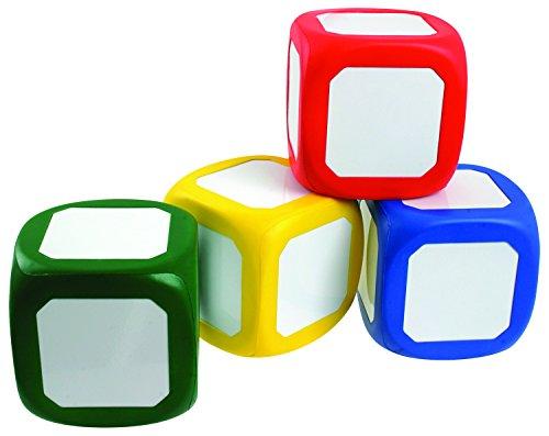 4St. 5x5x5cm Würfel mit beschreibbarer Metalloberfläche in vier Farben