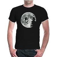 buXsbaum® T-Shirt Moon-Jump-Skateboarding