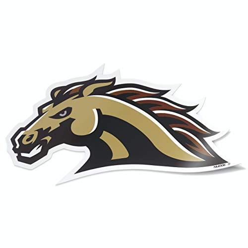 Nudge Printing Anstoßen Druck Western Michigan Universität Bronco Head Braun und Gold Auto Aufkleber Bumper Aufkleber Laptop Aufkleber
