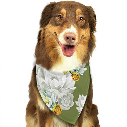 Hipiyoled Aquarell-Blumen-Muster-Mode-Nette lustige Party-Mädchen-Jungen-Hundebandana modern (Große Vogel Baby Kostüm)