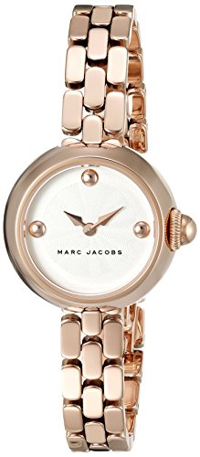 Marc Jacobs-Orologio da donna al quarzo con Display analogico, colore: rosa e MJ3458 Bracciale in acciaio INOX, colore: oro