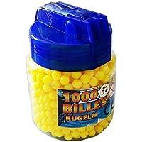 Recharge 1000 Billes Rondes 6 mm Couleur Jaune pour Pistolet à Bille - Forme Biberon Pratique -