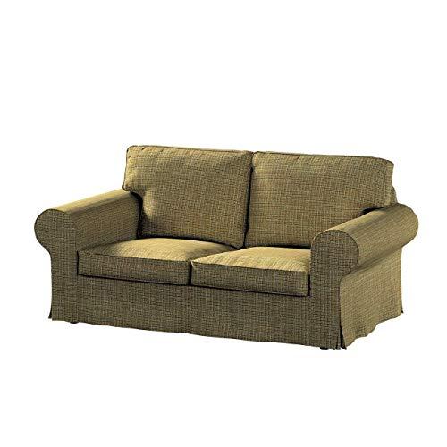 Dekoria Ektorp 2-Sitzer Schlafsofabezug ALTES Modell Sofahusse passend für IKEA Modell Ektorp erbsengrün