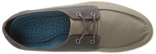 Reef Deckhand Low Black/Slate, Chaussures Bateau Homme Multicolore - Mehrfarbig (BLACK/SLATE / KSL)