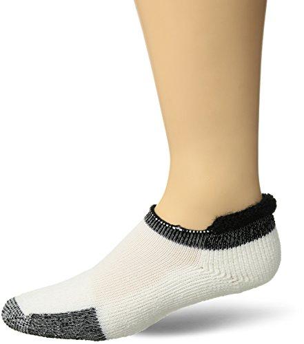 Thorlos Unisex Tennis Socks - Cushioned Tennis Socks - Crew Length - White/Black