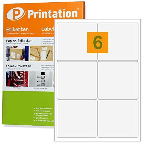 Universal Adress- Versand-Etiketten 99,1 x 93 mm klebend weiß 600 99,1x93 Labels auf 100 DIN A4 Bogen 2x3 - abgerundete Ecken - 4653 4502 L7166 - 93 Inkjet