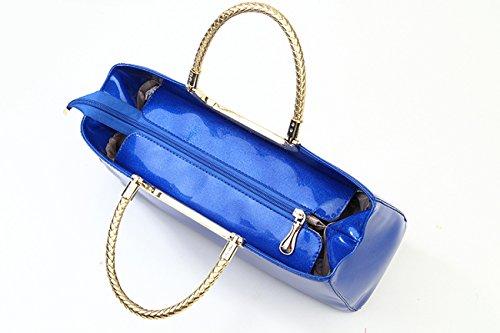LAIDAYE Frau Mode Lackleder Abendtaschen Hand 7