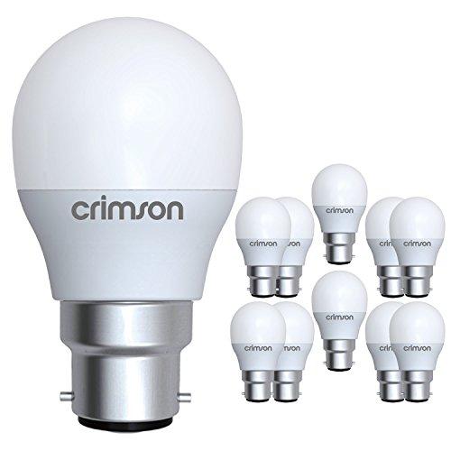 LM B22 vis Edison - 5 W G45 Golf ampoule LED blanc chaud 450 lm 3000K - 40-60 W remplacement ampoule...