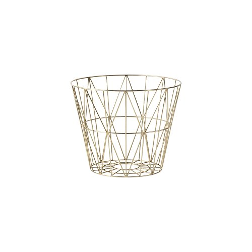 Ferm Living - Wire Basket Small, Messing