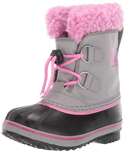 Sorel Kinder Childrens Yoot Pac Nylon Stiefel, grau (chrome grey)/pink (orchid), Größe: 31 (Große Stiefel)