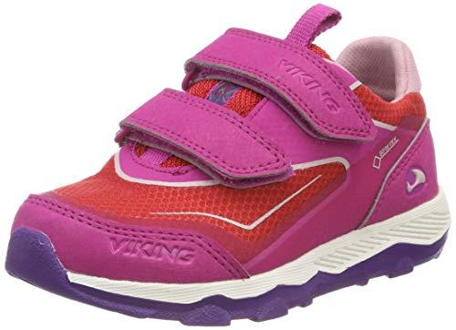Viking Unisex-Kinder EVANGER Low GTX Cross-Trainer, Pink (Magenta/red 9610), 22 EU
