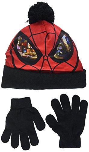 Conjunto infantil de gorro y guantes. Con diseño de Spider-Man. El gorro tiene una capa exterior de tejido polar, interior de punto y pompón. Exterior del gorro: 100% poliÃster, Interior del gorro: 100% acrílico, Guantes: 78% acrílico, 20% poliÃs...