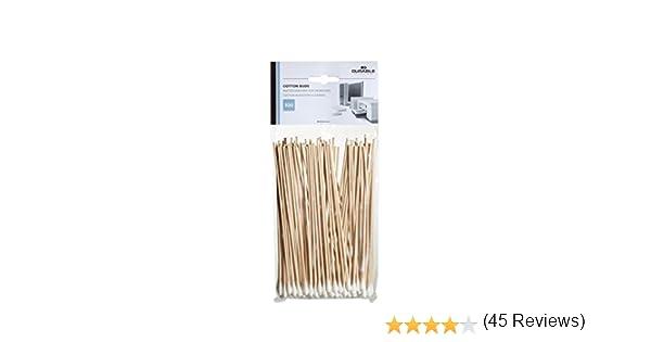 Durable 578902 Cotton Buds Cotons-tiges Longs Sp/écial Nettoyage Acc/ès Difficiles Mat/ériels Informatiques Sachet de 100