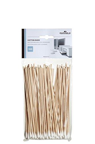 Durable 578902 Cotton Buds Cotons-tiges Longs Spécial Nettoyage Accès Difficiles Matériels Informatiques Sachet de 100