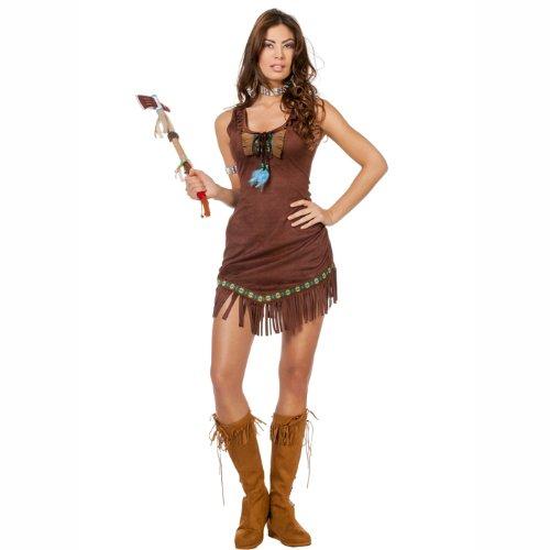 Günstige Pocahontas Kostüm - PARTY DISCOUNT NEU Damen-Kostüm Indianerin Lomasi
