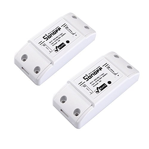 docooler SONOFF 10A DIY - Telecomando smart wifi di modifica generale con Smart app. 2 pcs