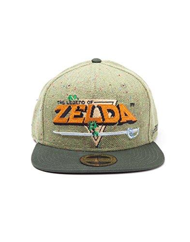 Zelda fedsb097510zel–Legend Of 8-Bit-Logo Snapback Cap One Size