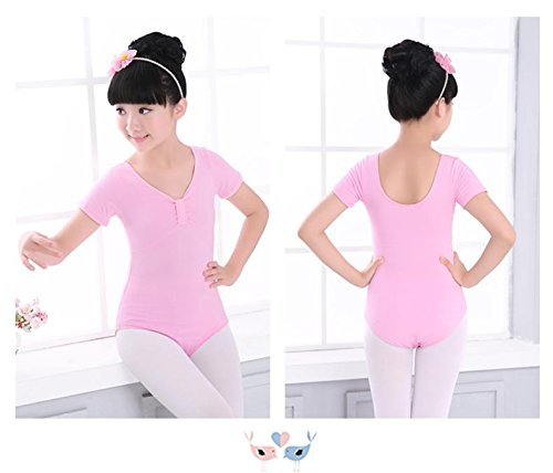 Kinder Tanz Latin Dance Kleidung Üben Bekleidung Mädchen Reine Baumwolle Farbe Siam Kleidung Ballett Kostüm , pink , 2xl (Ballett Kostüm Flügel)