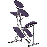 Chaise de massage - Aluminium - Sac inclus - Lilas