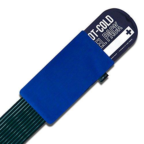 Gelpacksdirect - wiederverwendbare Premium Kalt-Kompresse mit Kompressionsband - Größe M (14 x 27 cm)