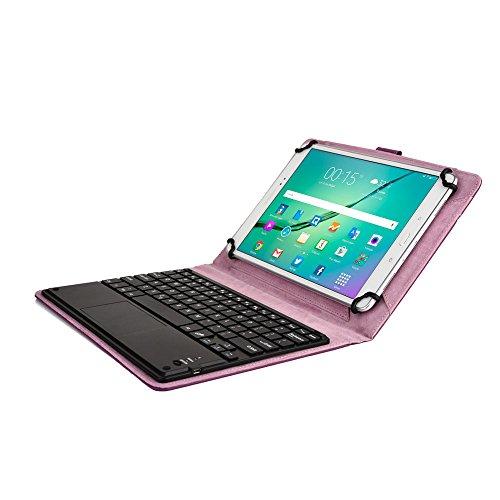 Asus ZenPad 10 Custodia con Tastiera, COOPER TOUCHPAD EXECUTIVE Custodia a libro Per Il Trasporto di Tablet con Tastiera Bluetooth QWERTY Wireless Removibile con supporto (Viola, Pelle PU di alta qualità)