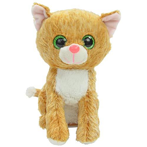 Kögler 75951 Laber Katze Tina, ca. 12 x 18 x 19 cm, Labertier mit Aufnahme-und Wiedergabefunktion, plappert Alles nach und wackelt mit dem Kopf, ideal für Jungen und Mädchen, als Geschenk, bunt