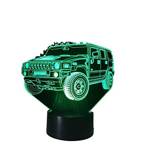 Wangzj 3d 7 Farbe Lampe Visuelle Led Nachtlichter Für Kinder Touch Usb Tisch Lampara Lampe Hummer