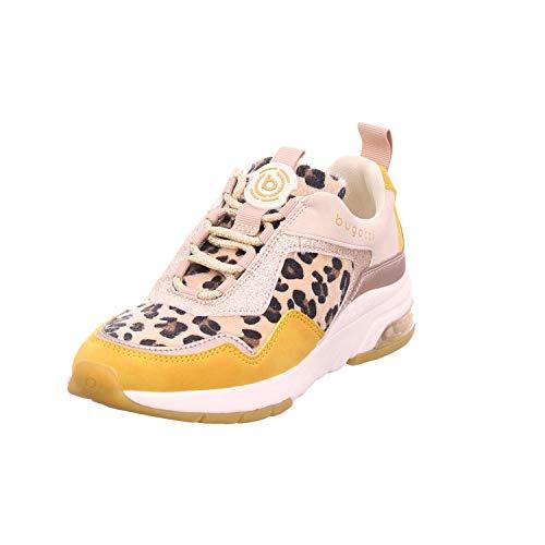 Bugatti Damen 432627035959 Sneaker, Gelb (Yellow/Animal Print 5082), 39 EU (Sneaker-print-schuhe)