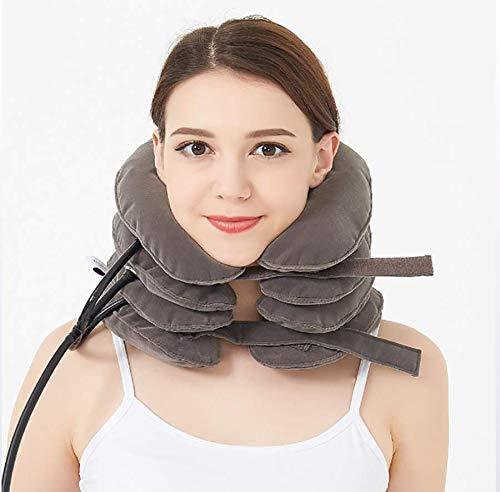 Cervical Neck Traction Device 4Layer Halsmassagegerät & Halsband - Nacken- & Schulterschmerzentlastung - Halskragen für unterwegs
