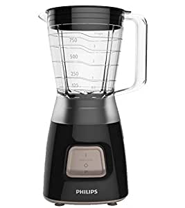 Philips HR2052/91 Daily Collection Blender, 1.25 Litre, 350 W, Black