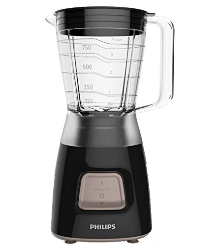 Philips Daily Collection Batidora HR2052/90 - Licuadora (1,25 L, Batidora de vaso, Negro, De plástico, Acero inoxidable, 450W)