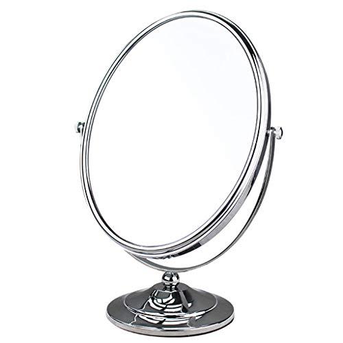 Gcgg Doppelseitiger Schwenker-Schminkspiegel 360 °-Rotation Runder Kosmetischer Spiegel, mit 1X/3X Vergrößerung Anzug für Badezimmer Oder Schlafzimmer Tischplatte Schminkspiegel -