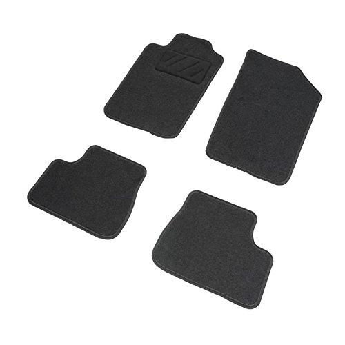 DBS 1765725 Tapis Auto - Sur Mesure - Tapis de sol pour Voiture - 4 Pièces - Moquette noir 600g/m² - Gamme One