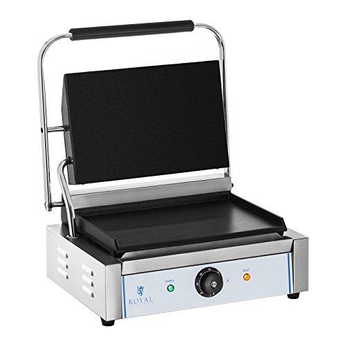 Royal Catering - RCKG-2200-F - Parrilla de contacto - lisa - 2200 W - 30-300 °C - Envío Gratuito