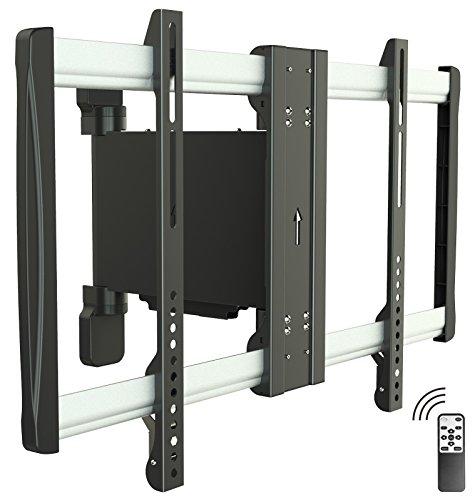 RICOO Motorisierte TV Wandhalterung Schwenkbar LCD Wandhalter SE2564 Elektrische Fernseher Halter Fernsehhalterung Universal VESA 200x200 400x400 600x400/Fernsteuerung/ (48 Rahmen Motor)