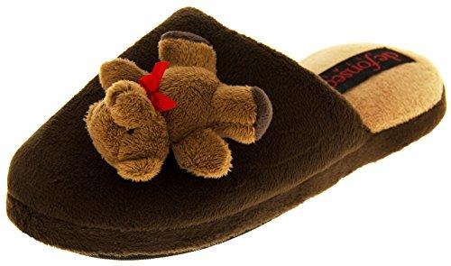 Footwear Studio ,  Damen hinten offen , Braun - Brown (Teddy Bear) - Größe: (Brown Bear Teddy)