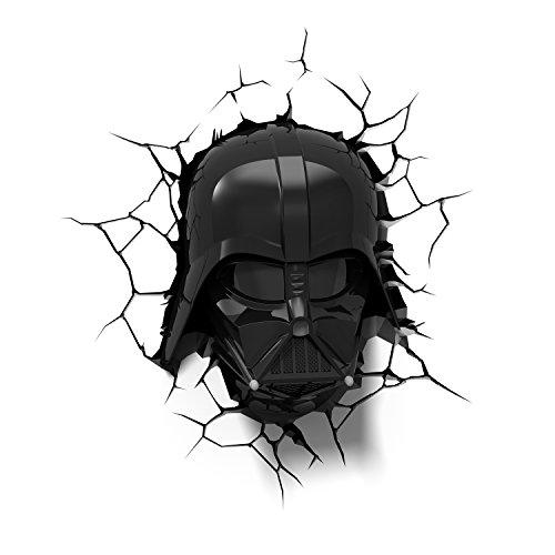 Darth Star Wars Helm Vader (Star Wars Darth Vader Wandlampe 3D Light FX LED Kinderlampe -Nachtlicht für kinder mit automatische Abschaltung und wandaufkleber [Energieklasse)