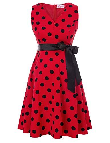 Mujer Vestido Premamá Elegante de Fiesta Corto para Lactancia Rojo M