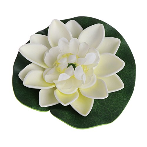 Runrain artificiale contraffatte fiori galleggiante loto ninfee piante da giardino serbatoio stagno decorativo