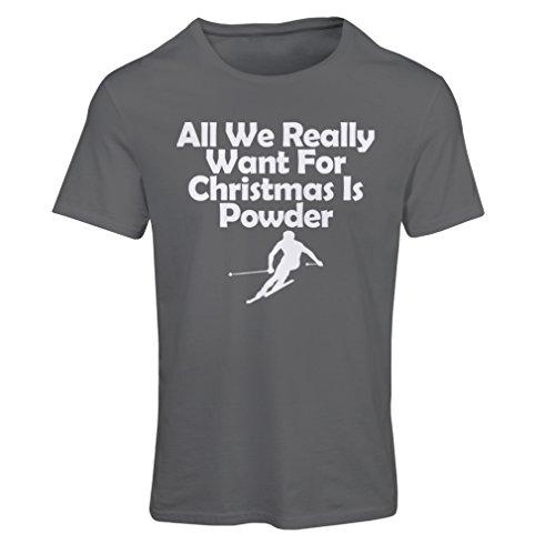 Frauen T-Shirt Alles, was wir für Weihnachten brauchen, ist Schnee - Geschenke vom Weihnachtsmann (Small Graphit (Day Patricks Sexy St Outfit)