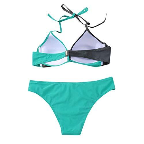 CixNy Bikini-Set Damen Badeanzug mädchen Bikini 2019 Neu Fashion Einfarbig Gepolsterter Push-Up BH...