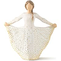 Willow Tree 27702 Figur Butterfly, Resin, cream, 6,4 x 14,6 x 16,5 cm