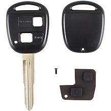 Kit di riparazione guscio in gomma con 2pulsanti e lama per chiave Toyota Yaris